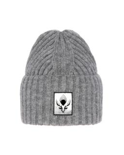Zimowa czapka z modną naszykwą 55-60 AGB/4760 szary