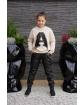 Sweter z literką A i frędzlami 134-164 Asia beż