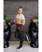 Sweter w pasy z łańcuszkiem 134-164 Basia odcienie brązu