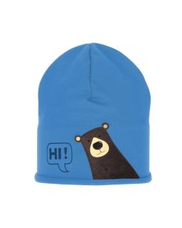 Komplet chłopięcy czapka i komin 48-54 AGB/4729 niebieski
