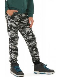 Chłopięce spodnie moro Army 116-158 KRP413 szare