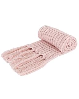 Akrylowy szalik zimowy AGB/2679 różowy