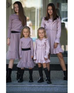 Spódniczka tiulowa dla dziewczynki 110-164 QB04 liliowa