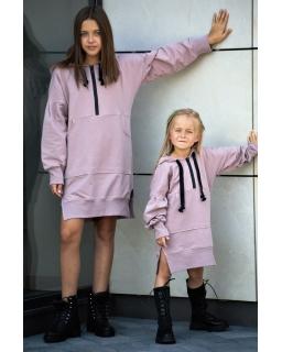 Sukienka dla dziewczynki z mięsistej dresówki