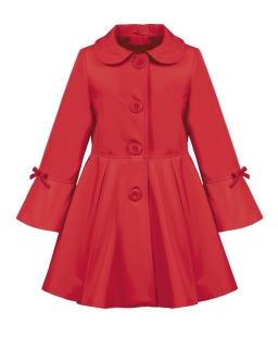 Rozkloszowany płaszczyk przejściowy 86 - 146 Ellen czerwony