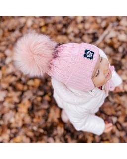 Zimowa czapka dla przedszkolaka AGB/3276 róż