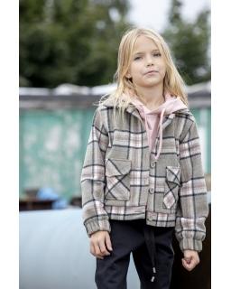Przejściowa kurtka dla dziewczynki 128-158 Gabi szary plus róż