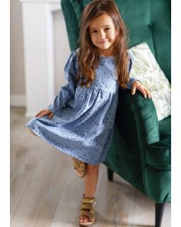 Sukienka z mięsistej dresowki 98-140 Gloria niebieska