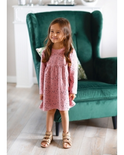 Sukienka z mięsistej dresowki 98-140 Gloria różowa