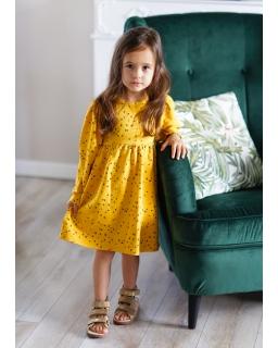 Sukienka z mięsistej dresowki 98-140 Gloria żółta