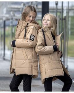 Kurtka zimowa dla dziewczynki, beżowa, na zimę, coat for girl, sklep
