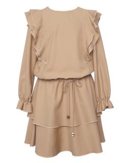 Okolicznościowa sukienka boho 140-170 1AW-04C beż