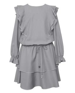 Okolicznościowa sukienka boho 140-170 1AW-04A szary