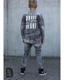 Bluza z dzianiny jeansowej 104-158 AFK08 czarny
