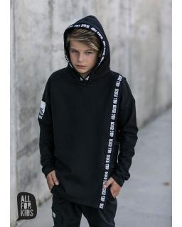 Bluza z kaputrem dla chłopca 104-158 AFK12 czarny