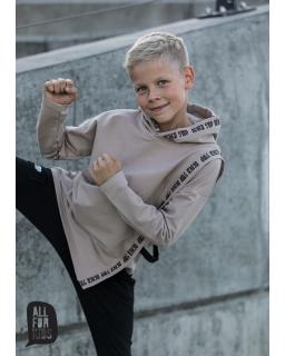 Bluza z kaputrem dla chłopca 104-158 AFK12 beż