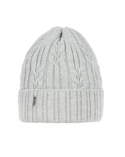 Zimowa czapka gruby splot 50-52 AGB/2585 szary