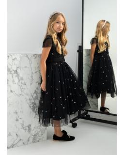 Midi sukienka na specjalną okazję 140-164 1AW-10