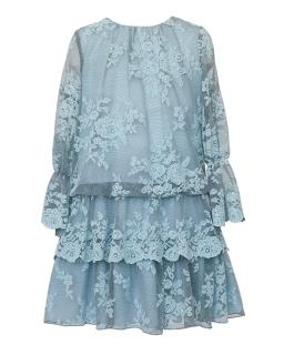 Koronkowa sukienka w stylu boho 140-164 1AW-08C pistacjowy