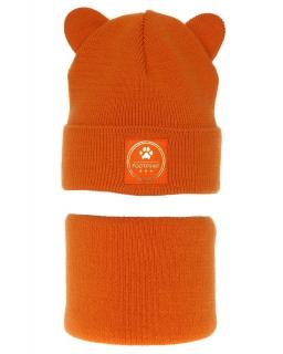 Zimowy komplet dla dziewczynki AGB/4625 pomarańcz