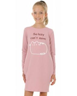 Sukienka dla dziewczynki na co dzień, dresowa, wygodna, różowa, tuba