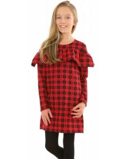 Sukienka na święta dla dziewczynki w czarno czerwoną kratkę sklep