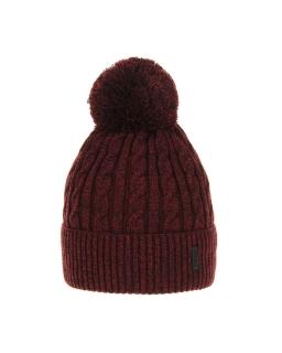 Chłopięca czapka na zimę AGB/3077 bordo
