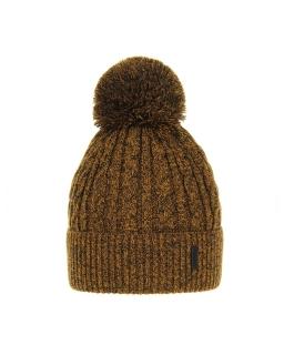 Chłopięca czapka na zimę AGB/3077 musztardowy
