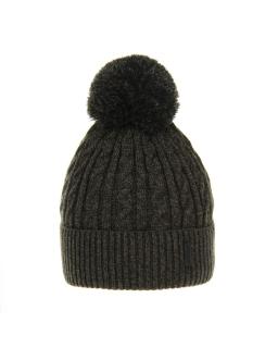 Chłopięca czapka na zimę AGB/3077 khaki