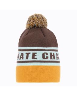 Chłopięca czapka na zimę AGB/3403 brązowa