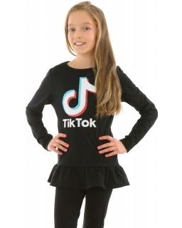 Tunika Tik Tok z baskinką 128-158 KRP419 czarna