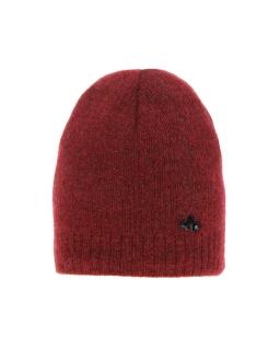 Zimowa czapka ze srebrną nitką 55-60 AGB/4823 czerwony