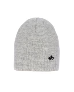Zimowa czapka ze srebrną nitką 55-60 AGB/4823 szary