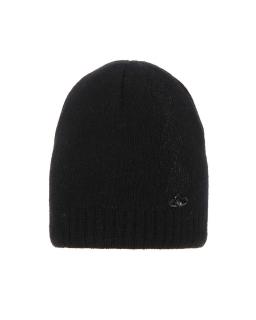 Zimowa czapka ze srebrną nitką 55-60 AGB/4823 czarny