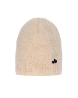Zimowa czapka ze srebrną nitką 55-60 AGB/4823 kremowy