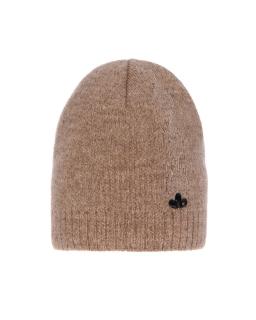 Zimowa czapka ze srebrną nitką 55-60 AGB/4823 beż