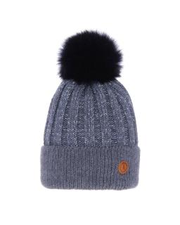 Zimowa czapka z pomponem 55-60 AGB/4771 niebieski