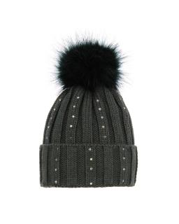 Zimowa czapka z pomponem 55-60 AGB/3379 khaki