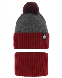 Chłopięcy zimowy komplet AGB/4699 czerwony