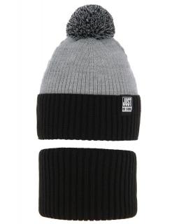 Chłopięcy zimowy komplet AGB/4699 czarny