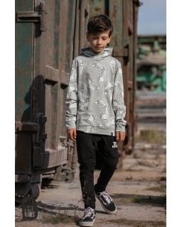 Bluza z modnym nadrukiem TRAMPKI 104-158 AFK18 miętowy
