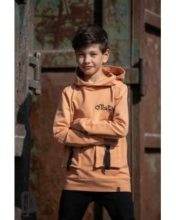 Chłopięca bluza z kapturem 104-158 AFK/18 pomarańcz