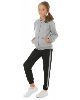 Spodnie dresowe z lampasem 116-158 KRP392 czarne
