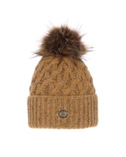 Piękna pleciona zimowa czapka 55-60 AGB/4770 szary