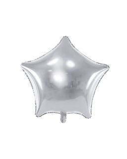 Balon foliowy GWIAZDKA SREBRNY 48cm BAL125