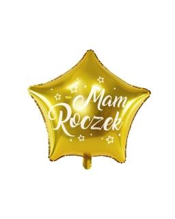 Balon foliowy GWIAZDKA - MAM ROCZEK 48cm BAL126