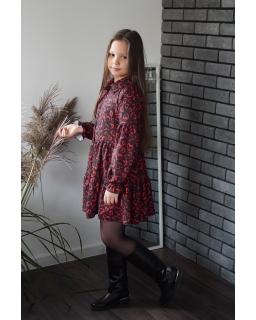 Sukienka z kołnierzykiem w serduszka 134-164 Felicja