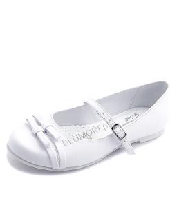 Białe balerinki na komunię 30 - 38 Merida