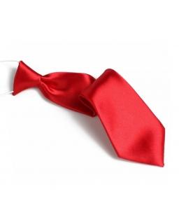 Krawat dziecięcy na gumce malinowy 26 cm