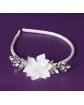 Biała opaska dla dziewczynki, z diamencikami P35